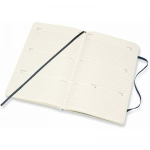 Moleskine 2022 Large Weekly Diary Planner Soft Cover Sapphire Blue-inside