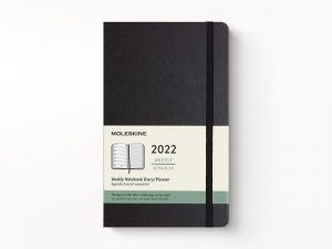 Moleskine 2022 Large Weekly Notebook Diary Hard Cover Black-front