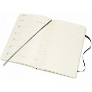 Moleskine 2022 Large Weekly Notebook Diary Soft Cover Black-inside