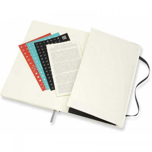 Moleskine 2022 Large Weekly Notebook Diary Soft Cover Black-stickers