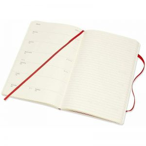 Moleskine 2022 Large Weekly Notebook Diary Soft Cover Scarlet Red-inside
