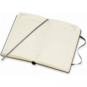Moleskine 2022 Pocket Daily Diary Planner Hard Cover Black-inside