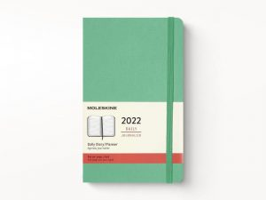 Moleskine 2022 Pocket Daily Diary Planner Hard Cover Ice Green-front