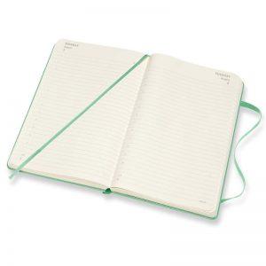 Moleskine 2022 Pocket Daily Diary Planner Hard Cover Ice Green-inside