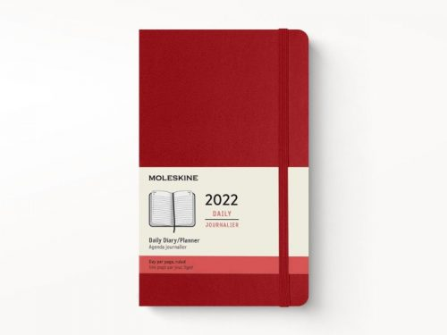 Moleskine 2022 Pocket Daily Diary Planner Hard Cover Scarlet Red-front