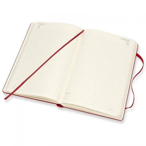 Moleskine 2022 Pocket Daily Diary Planner Hard Cover Scarlet Red-inside