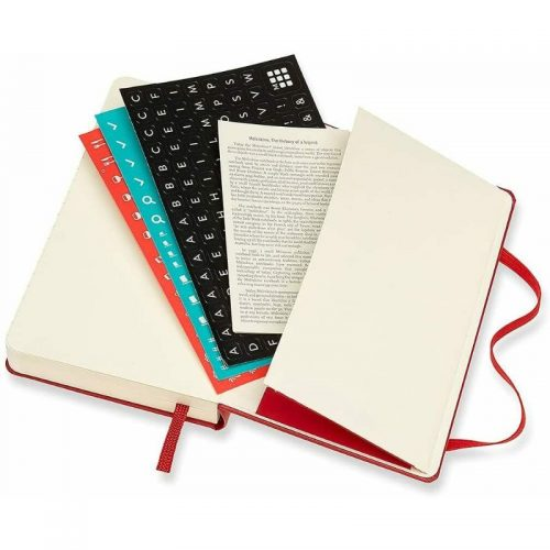 Moleskine 2022 Pocket Daily Diary Planner Hard Cover Scarlet Red-stickers