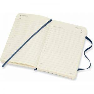Moleskine 2022 Pocket Daily Diary Planner Soft Cover Sapphire Blue-inside