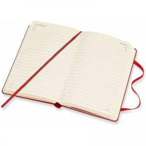 Moleskine 2022 Pocket Daily Planner Diary Soft Cover Scarlet Red-inside