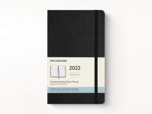 Moleskine 2022 Pocket Month Diary Planner Hard Cover Black-front