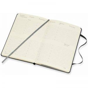 Moleskine 2022 Pocket Vertical Weekly Diary Planner Hard Cover Black-inside