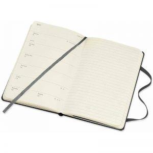 Moleskine 2022 Pocket Weekly Notebook Diary Hard Cover Black-inside