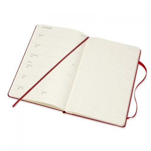Moleskine 2022 Pocket Weekly Notebook Diary Hard Cover Scarlet Red-inside