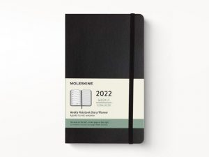 Moleskine 2022 Pocket Weekly Notebook Diary Soft Cover Black-front