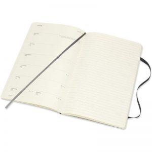 Moleskine 2022 Pocket Weekly Notebook Diary Soft Cover Black-inside