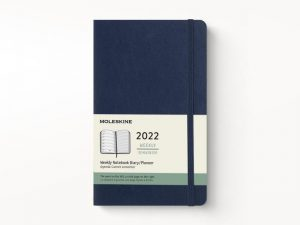Moleskine 2022 Pocket Weekly Notebook Diary Soft Cover Sapphire Blue-front