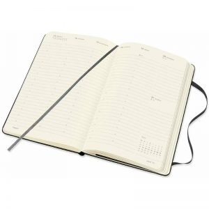 Moleskine Pro 2022 Large Weekly Vertical Diary Hard Cover Planner Black-inside