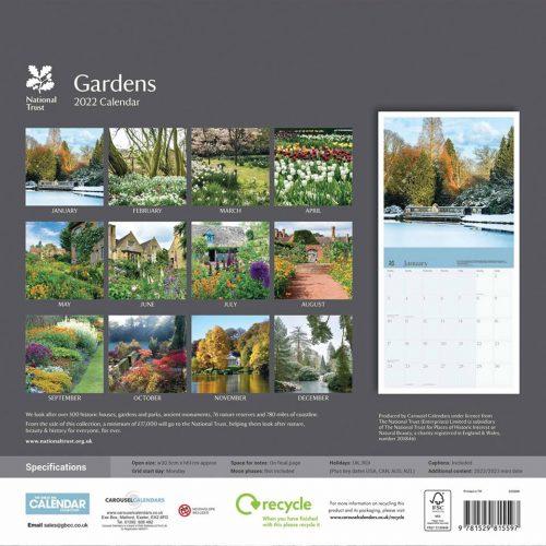 National Trust, Gardens Calendar 2022-back