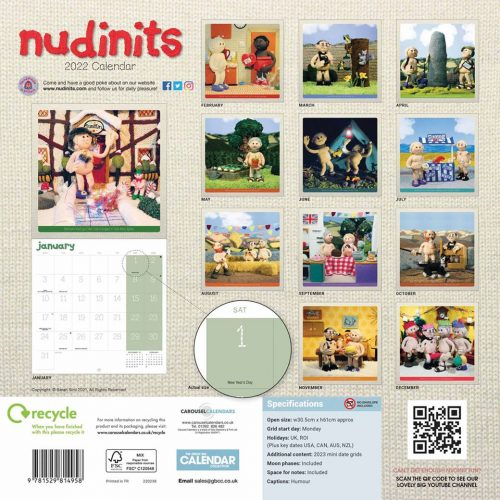 Nudinits Calendar 2022-back