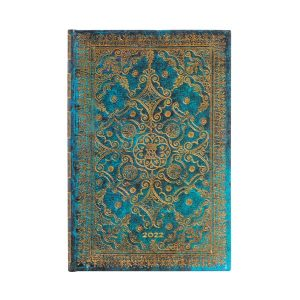 Paperblanks 2022 Diary Azure Mini Week to View Hard Cover-front
