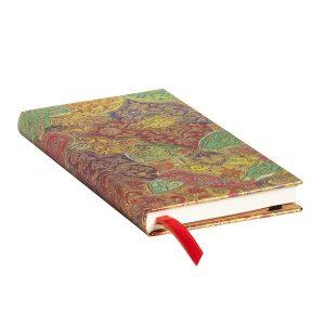 Paperblanks 2022 Diary Bavarian Wildflower Slim Week to View Hard Cover-edge