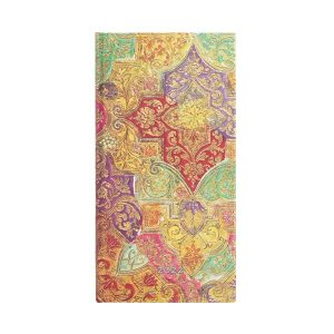 Paperblanks 2022 Diary Bavarian Wildflower Slim Week to View Hard Cover-front