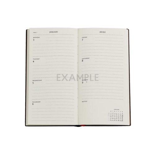 Paperblanks 2022 Diary Bavarian Wildflower Slim Week to View Hard Cover-inside