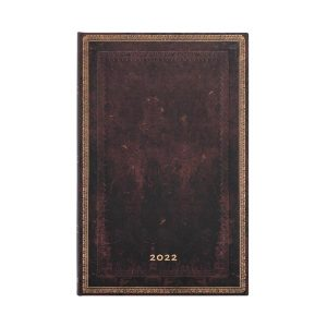 Paperblanks 2022 Diary Black Moroccan Maxi Week to View Hard Cover-front