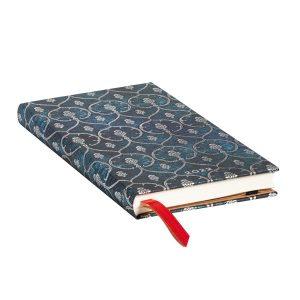 Paperblanks 2022 Diary Blue Velvet Slim Week to View Hard Cover-edge