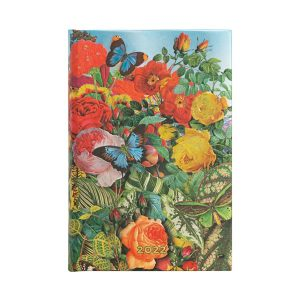 Paperblanks 2022 Diary Butterfly Garden Mini Day A Page Hard Cover-front