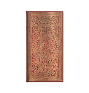 Paperblanks 2022 Diary Golden Pathway Slim Week to View Hard Cover-front