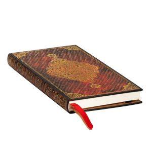 Paperblanks 2022 Diary Golden Trefoil Slim Week to View Hard Cover-edge