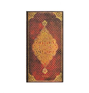 Paperblanks 2022 Diary Golden Trefoil Slim Week to View Hard Cover-front