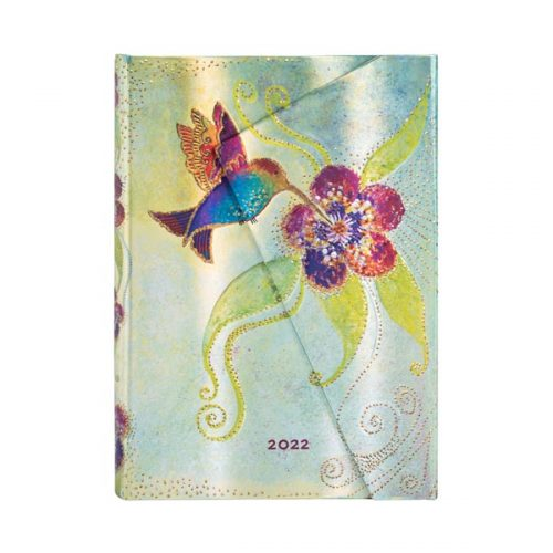 Paperblanks 2022 Diary Hummingbird Midi Day A Page Hard Cover-front