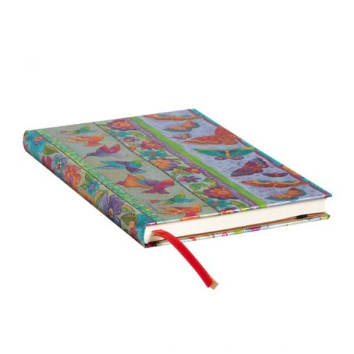 Paperblanks 2022 Diary Hummingbirds & Flutterbyes Maxi Weekly Hard Cover-edge