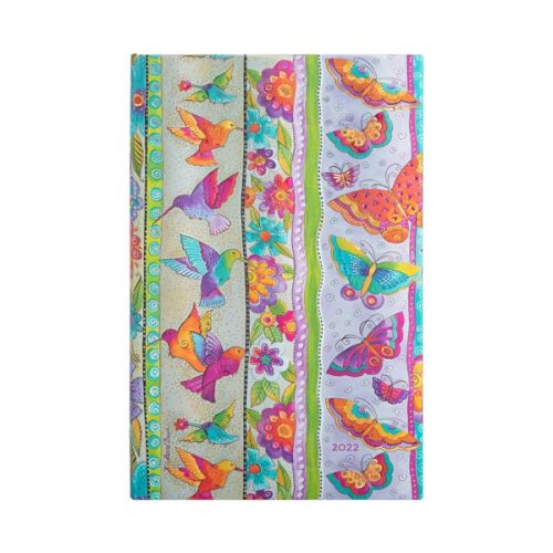 Paperblanks 2022 Diary Hummingbirds & Flutterbyes Maxi Weekly Hard Cover-front