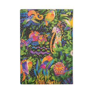 Paperblanks 2022 Diary Jungle Song Midi Week to View Soft Cover-back