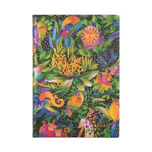 Paperblanks 2022 Diary Jungle Song Midi Week to View Soft Cover-front