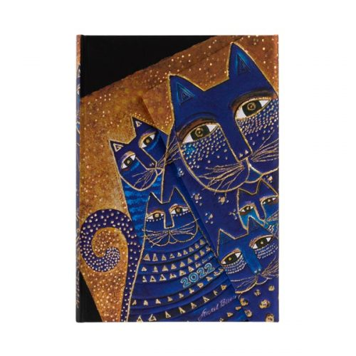Paperblanks 2022 Diary Mediterranean Cats Mini Week to View Hard Cover-front
