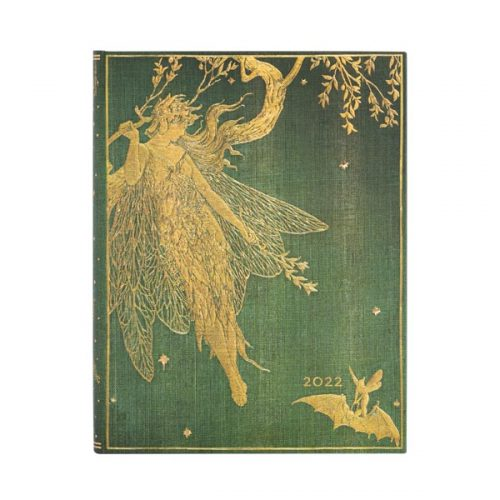 Paperblanks 2022 Diary Olive Fairy Ultra Day A Page-front