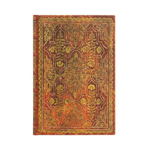 Paperblanks 2022 Diary Persimmon Mini Day A Page Hard Cover-front