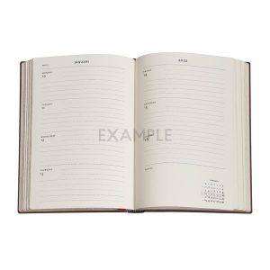 Paperblanks 2022 Diary Poetry In Bloom Midi Week to View Hard Cover-inside