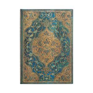 Paperblanks 2022 Diary Turquoise Chronicles Midi Week to View-front