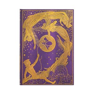 Paperblanks 2022 Diary Violet Fairy Midi Week to View-front