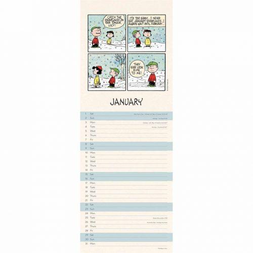 Peanuts Slim Calendar 2022-inside