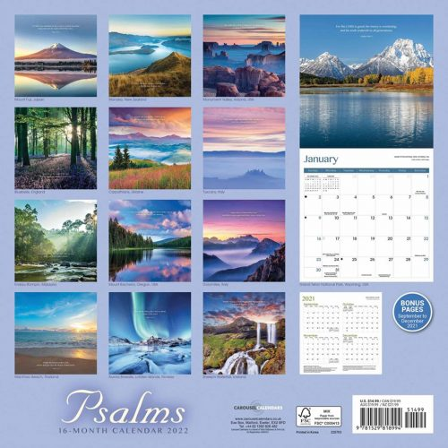 Psalms Calendar 2022-back