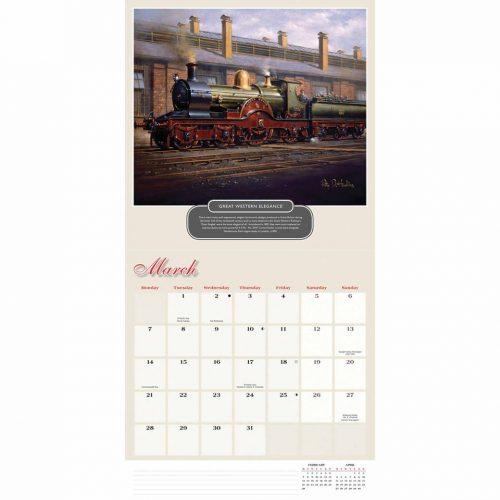 Romance of Steam Calendar 2022-inside