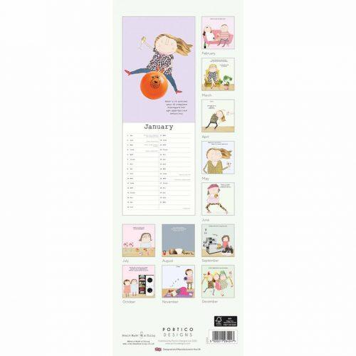 Rosie Made A Thing Slim Calendar 2022-back