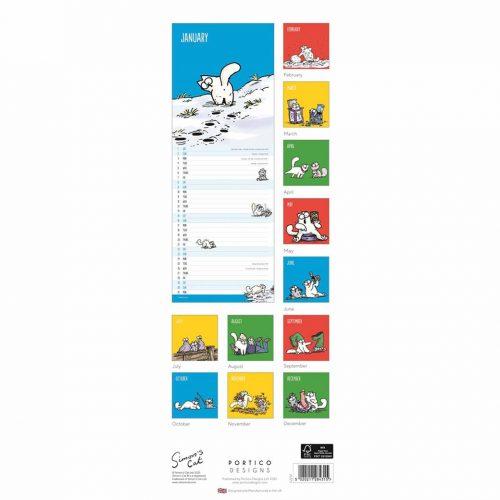 Simon's Cat Slim Calendar 2022-back