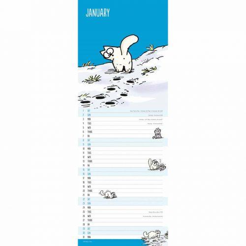 Simon's Cat Slim Calendar 2022-inside